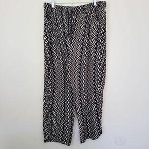 Cato wide leg print pants XL
